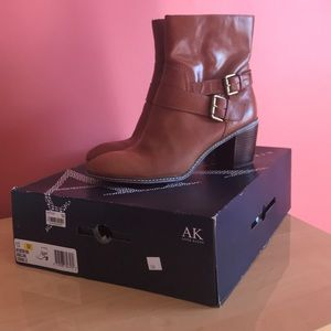 Anne Klein Ankle Boots in Cognac. Women's size 10